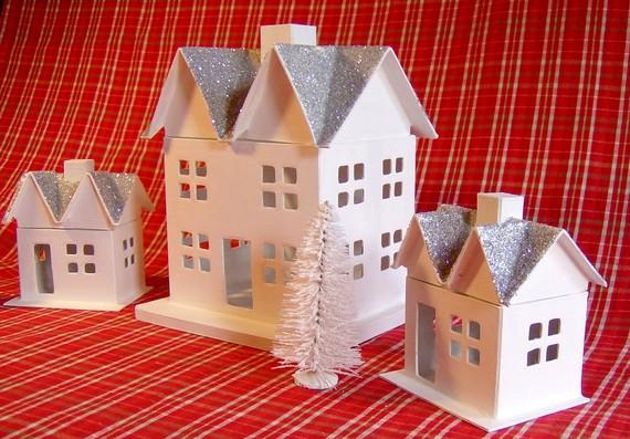 Как сделать домик новогодний из картона