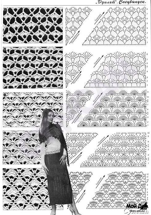 Шали. Фото и схемы для вязания