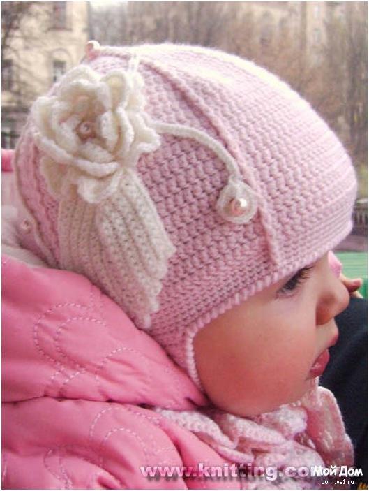 шапка женская схема вязания