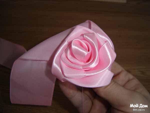Маленькие розы из лент мастер класс - Корпоративный портал