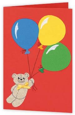 Объемная открытка мишка тедди с