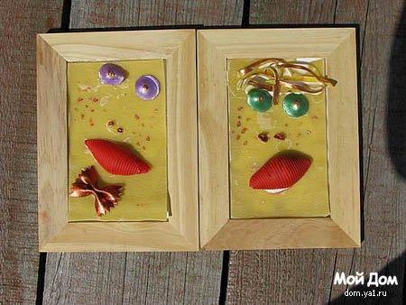 Пищевой хэнд-мейд. Сделано из макарон.