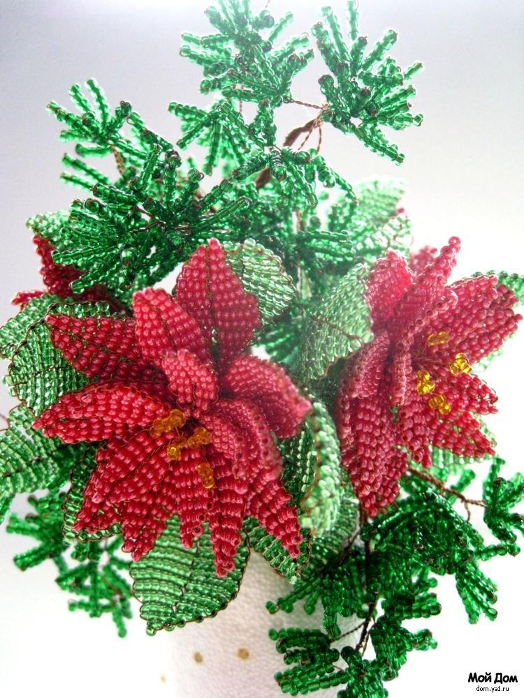 Для того, чтобы цветок из бисера получился оригинальным, необходимо также правильно подобрать бисер по фактуре.