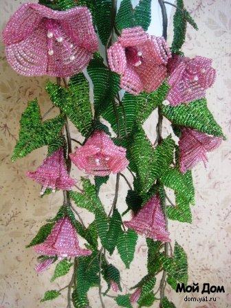 растения из бисера.