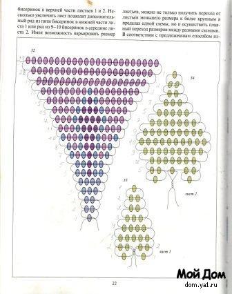 Схема вьюнка из бисера. Код