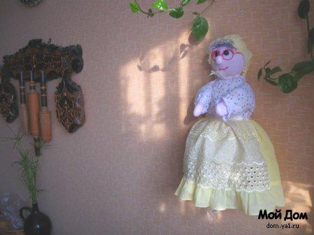 """Кукла-домашка """"Я ее слепила из того, что было..."""""""