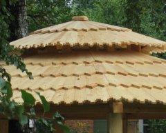 Односкатная крыша беседки своими руками