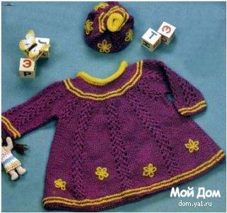 вязание спицами шапочки для детей. вязание клуб осинка.