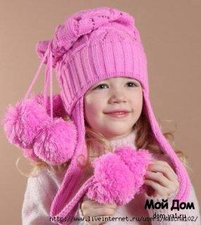 ...зимние вязаные шапки крючком схемы и вязання маншки спицями для дтей.