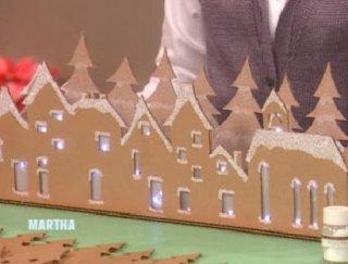 Зимняя деревня из картона